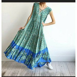 Free People Hanalei Bay Maxi Dress Hawaiian Blue M